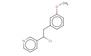 3-[1-CHLORO-2-(3-METHOXYPHENYL)ETHYL]PYRIDINE