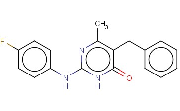 5-BENZYL-2-[(4-FLUOROPHENYL)AMINO]-6-METHYLPYRIMIDIN-4(3H)-ONE