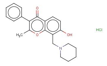 7-HYDROXY-2-METHYL-8-(PIPERIDINOMETHYL)ISOFLAVONE HYDROCHLORIDE