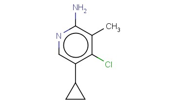 4-CHLORO-5-CYCLOPROPYL-3-METHYLPYRIDIN-2-AMINE