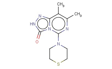 7,8-DIMETHYL-5-THIOMORPHOLIN-4-YL-2H-[1,2,4]TRIAZOLO[4,3-C]PYRIMIDIN-3-ONE