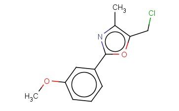 5-(CHLOROMETHYL)-2-(3-METHOXYPHENYL)-4-METHYL-1,3-OXAZOLE