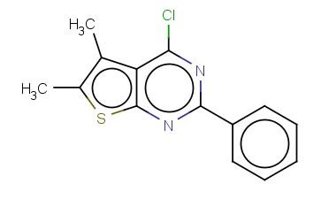 4-CHLORO-5,6-DIMETHYL-2-PHENYLTHIENO[2,3-D]PYRIMIDINE