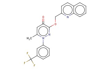 6-METHYL-3-(2-QUINOLINYLMETHOXY)-1-(3-(TRIFLUOROMETHYL)PHENYL)-4(1H)-PYRIDAZINONE