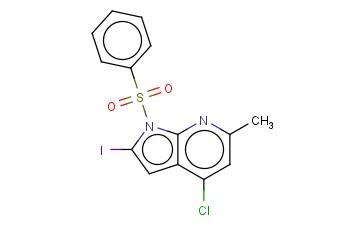 1-(PHENYLSULPHONYL)-4-CHLORO-2-IODO-6-METHYL-7-AZAINDOLE
