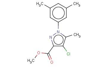 METHYL 4-CHLORO-1-(3,5-DIMETHYLPHENYL)-5-METHYL-1H-PYRAZOLE-3-CARBOXYLATE