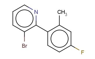 3-BROMO-2-(4-FLUORO-2-METHYLPHENYL)PYRIDINE