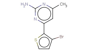 4-(3-BROMO-2-THIENYL)-6-METHYL-2-PYRIMIDINAMINE