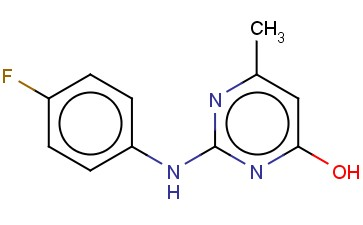 2-(4-FLUORO-PHENYLAMINO)-6-METHYL-PYRIMIDIN-4-OL