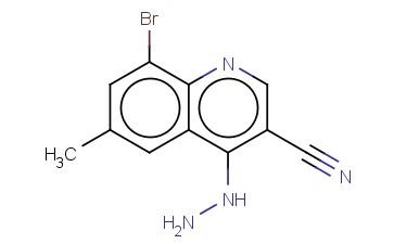 8-BROMO-4-HYDRAZINYL-6-METHYLQUINOLINE-3-CARBONITRILE