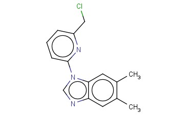 1-[6-(CHLOROMETHYL)PYRIDIN-2-YL]-5,6-DIMETHYL-1H-1,3-BENZODIAZOLE