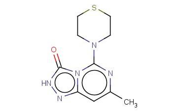 7-METHYL-5-THIOMORPHOLIN-4-YL-2H-[1,2,4]TRIAZOLO[4,3-C]PYRIMIDIN-3-ONE