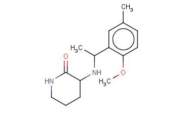 3-([1-(2-METHOXY-5-METHYLPHENYL)ETHYL]AMINO)PIPERIDIN-2-ONE