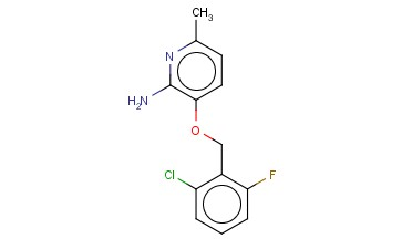 3-[(2-CHLORO-6-FLUOROPHENYL)METHOXY]-6-METHYLPYRIDIN-2-AMINE
