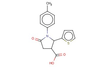 1-(4-METHYLPHENYL)-5-OXO-2-THIEN-2-YLPYRROLIDINE-3-CARBOXYLIC ACID