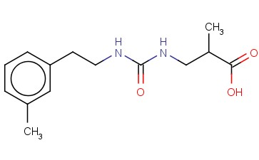 2-METHYL-3-(([2-(3-METHYLPHENYL)ETHYL]CARBAMOYL)AMINO)PROPANOIC ACID