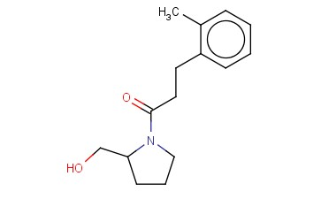 1-[2-(HYDROXYMETHYL)PYRROLIDIN-1-YL]-3-(2-METHYLPHENYL)PROPAN-1-ONE