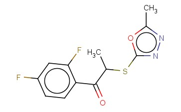 1-(2,4-DIFLUOROPHENYL)-2-[(5-METHYL-1,3,4-OXADIAZOL-2-YL)SULFANYL]PROPAN-1-ONE