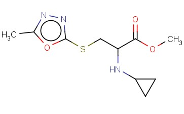 METHYL 2-(CYCLOPROPYLAMINO)-3-[(5-METHYL-1,3,4-OXADIAZOL-2-YL)SULFANYL]PROPANOATE