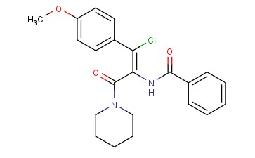 (Z)-N-(1-<span class='lighter'>CHLORO</span>-1-(4-METHOXYPHENYL)-3-OXO-3-(PIPERIDIN-1-YL)PROP-1-EN-2-YL)<span class='lighter'>BENZAMIDE</span>