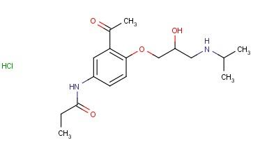 N-[3-Acetyl-4-[(2RS)-2-hydroxy-3-[(1-methylethyl) amino] propoxy] phenyl] propanamide hydrochloride