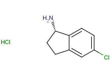 (S)-<span class='lighter'>5-CHLORO-2</span>,3-DIHYDRO-1H-INDEN-1-AMINE HYDROCHLORIDE