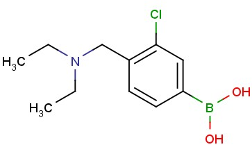 (3-chloro-4-((diethylamino)methyl)phenyl)boronic acid