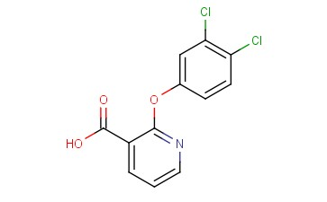 3-<span class='lighter'>PYRIDINECARBOXYLIC</span> ACID, 2-(3,4-DICHLOROPHENOXY)-