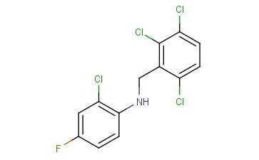 2-CHLORO-4-FLUORO-N-[(2,3,6-TRICHLOROPHENYL)METHYL]ANILINE