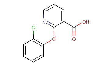 3-<span class='lighter'>PYRIDINECARBOXYLIC</span> ACID, 2-(2-CHLOROPHENOXY)-