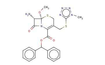 7<span class='lighter'>BETA</span>-AMINO-7A-METHOXY-3-[[(1-METHYL-1H-TETRAZOL-5-YL)<span class='lighter'>THIO</span>]-3-CEPHEM-4-CARBOXYLATE] DIPHENYLMETHYL
