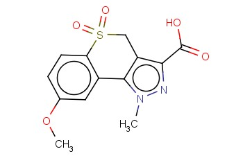 8-METHOXY-1-METHYL-1,4-DIHYDROTHIOCHROMENO[4,3-C]PYRAZOLE-3-CARBOXYLIC ACID 5,5-DIOXIDE
