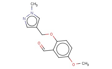 5-METHOXY-2-[(1-METHYL-1H-PYRAZOL-4-YL)METHOXY]BENZALDEHYDE