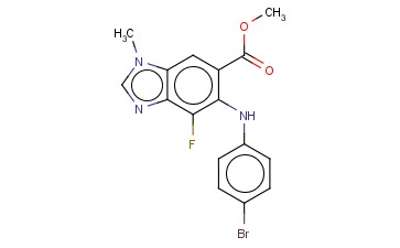 METHYL 5-(4-BROMOPHENYLAMINO)-4-FLUORO-1-METHYL-1H-BENZO[D]IMIDAZOLE-6-CARBOXYLATE