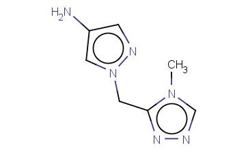 1-[(4-METHYL-4H-1,2,4-TRIAZOL-3-YL)METHYL]-1H-PYRAZOL-4-AMINE