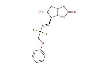 (3aR,4R,5R,6aS)-4-[(1E)-3,3-Difluoro-4-phenoxy-1-butenyl]hexahydro-5-hydroxy-2H-cyclopenta[b]furan-2-one