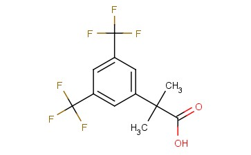 2-(<span class='lighter'>3,5</span>-BIS(TRIFLUOROMETHYL)PHENYL)-2- METHYL <span class='lighter'>PROPANOIC</span> ACID