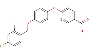 3-Pyridinecarboxylic acid, 6-[4-[(2,4-difluorophenyl)methoxy]phenoxy]-
