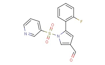 <span class='lighter'>1H-PYRROLE-3-CARBOXALDEHYDE</span>, 5-(2-FLUOROPHENYL)-1-(3-PYRIDINYLSULFONYL)-
