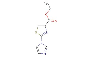 4-<span class='lighter'>THIAZOLECARBOXYLIC</span> ACID, 2-(1H-IMIDAZOL-1-YL)-, ETHYL <span class='lighter'>ESTER</span>
