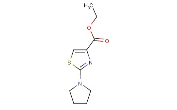 4-<span class='lighter'>THIAZOLECARBOXYLIC</span> ACID, 2-(1-PYRROLIDINYL)-, ETHYL <span class='lighter'>ESTER</span>