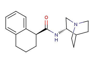 (1S)-N-[(3S)-<span class='lighter'>1-AZABICYCLO</span>[<span class='lighter'>2.2.2</span>]OCT-3-YL]-1,2,3,4-TETRAHYDRO-1-NAPHTHALENECARBOXAMIDE
