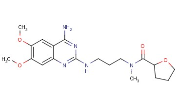 N-[3-[(4-amino-6,7-dimethoxyquinazolin-2-yl)amino]propyl]-N-methyloxolane-2-carboxamide