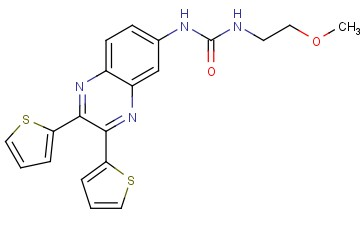 1-(2,3-DI(<span class='lighter'>THIOPHEN-2-YL</span>)QUINOXALIN-6-<span class='lighter'>YL</span>)-3-(2-METHOXYETHYL)UREA