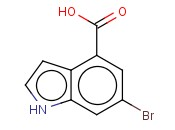 6-<span class='lighter'>Bromo-1H-indole-4-carboxylic</span> acid