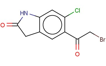 2H-INDOL-2-ONE, 5-(2-BROMOACETYL)-6-CHLORO-1,3-DIHYDRO-