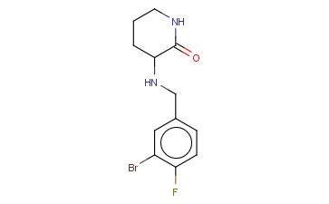 3-([(3-BROMO-4-FLUOROPHENYL)METHYL]AMINO)PIPERIDIN-2-ONE