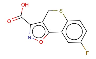 8-FLUORO-4H-THIOCHROMENO[3,4-D]ISOXAZOLE-3-CARBOXYLIC ACID