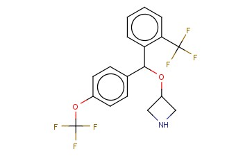 3-[[4-(TRIFLUOROMETHOXY)PHENYL][2-(TRIFLUOROMETHYL)PHENYL]METHOXY]-AZETIDINE