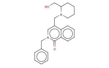 (RS)-2-BENZYL-4-(2-HYDROXYMETHYLPIPERIDIN-1-YLMETHYL)-2H-ISOQUINOLIN-1-ONE